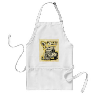 hot rod wanna race monster cartoon oldschool adult apron