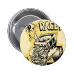 hot rod wanna race monster cartoon oldschool button