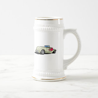 Hot Rod with Flames Beer Stein