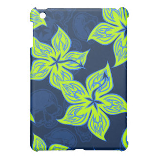 Hot Rodder Pinstriped Hibiscus and Skull iPad Mini Cover