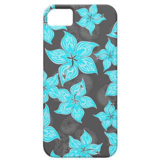 Hot Rodder Pinstriped Hibiscus and Skull iPhone SE/5/5s Case