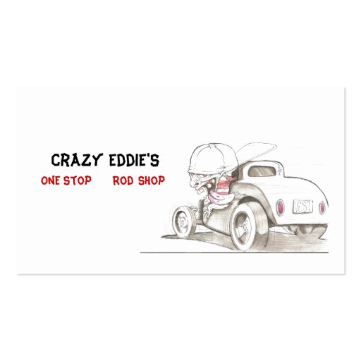 Hot Rods and Automobiles Business Card Ideas