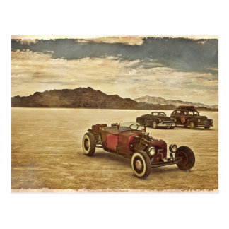 Hot Rods at Bonneville post card