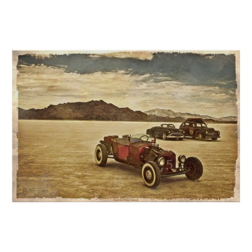 Hot Rods at Bonneville Poster