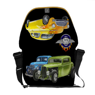 Hot Rods- Route 66 - SRF Courier Bag