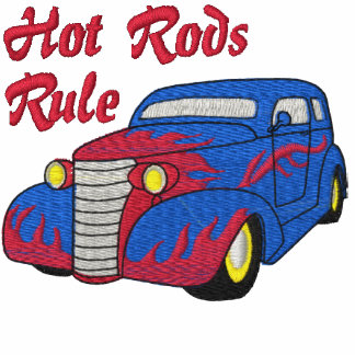Hot Rods Rule Embroidered Shirt