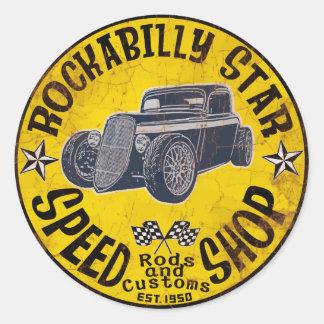 Hot Rods Speed shop Classic Round Sticker