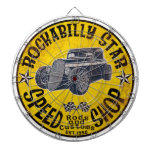 Hot Rods Speed shop Dartboard With Darts
