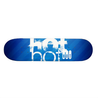 Hot Royal Blue Stripes. Skate Deck