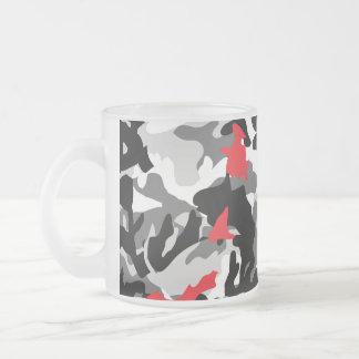 Hot Safari black and white Frosted Glass Coffee Mug