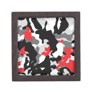 Hot Safari black and white Keepsake Box