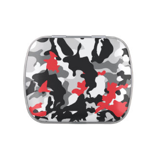 Hot Safari camouflage black and white Candy Tin