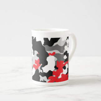 Hot Safari camouflage black and white Porcelain Mug