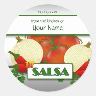 Hot Salsa Canning Custom  Sticker Label