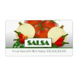 Hot Salsa Preserves Canning Label