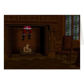 Hot Santa Claus Greeting Card