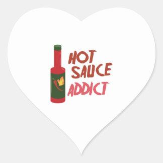Hot Sauce Addict Heart Sticker