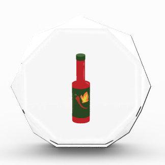 Hot Sauce Bottle Acrylic Award