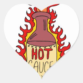 Hot Sauce Bottle Cartoon Heart Sticker