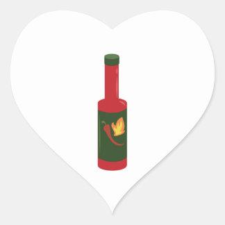 Hot Sauce Bottle Heart Sticker