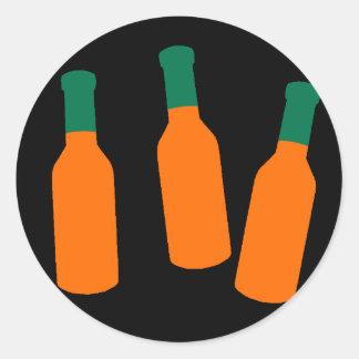 Hot Sauce Bottles Classic Round Sticker