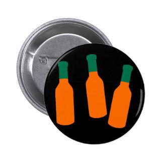 Hot Sauce Bottles Pinback Button