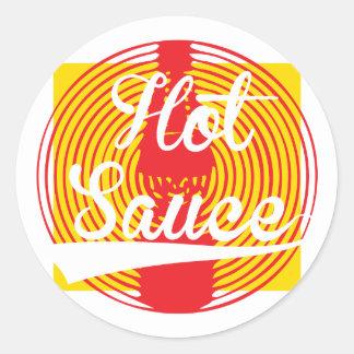 Hot Sauce! Classic Round Sticker
