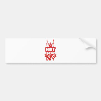 Hot Sauce Day - Appreciation Day Bumper Sticker