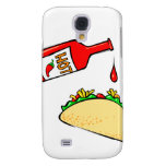 Hot sauce dripping on taco galaxy s4 cover