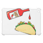 Hot sauce dripping on taco iPad mini covers
