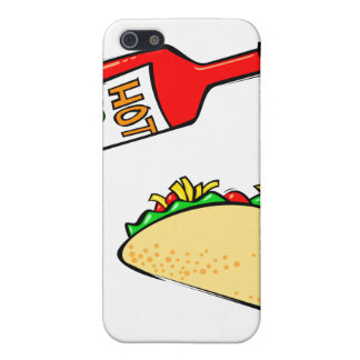 Hot sauce dripping on taco iPhone 5 cover