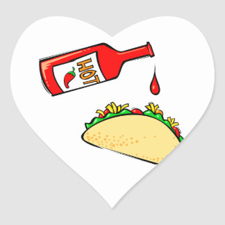 Hot sauce dripping on taco stickers
