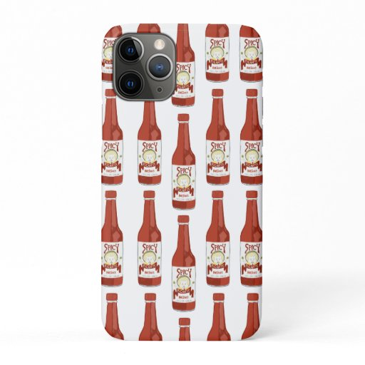 Hot Sauce Spicy Fun Picante Pattern iPhone 11 Pro Case