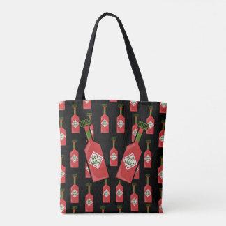 Hot Sauce Tote Bag Black