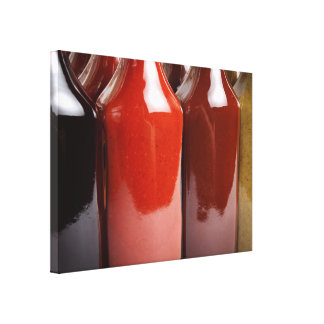 Hot sauces canvas print