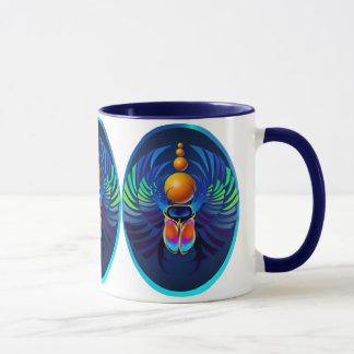 Hot Scarab dark Oval Mugs