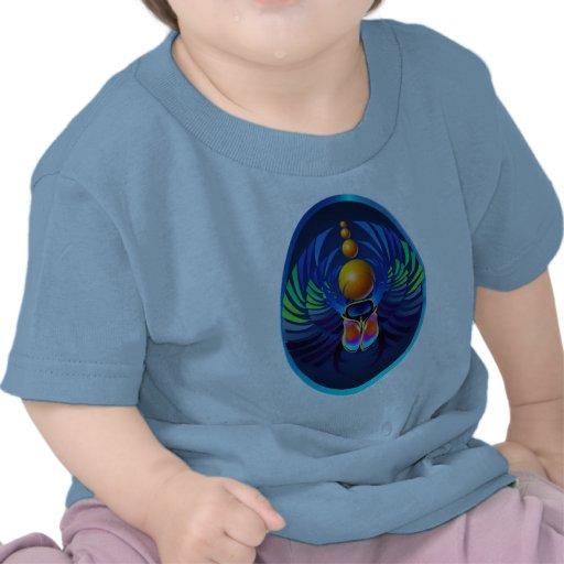 Hot Scarab light Oval T Shirts