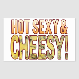 Hot Sexy Blue Cheesy Rectangular Sticker