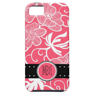 Hot Shocking Pink Floral Pattern iPhone 5 Case