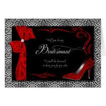 Hot Silver and Black Cheetah Print for Bridesmaid