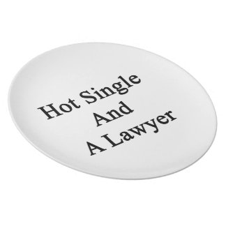 Hot Single And A Lawyer Plate