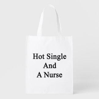 Hot Single And A Nurse Reusable Grocery Bag