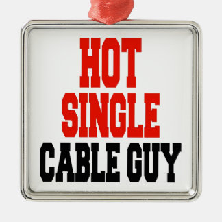 Hot Single Cable Guy Metal Ornament