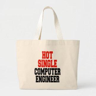 Hot Single Computer Engineer Large Tote Bag