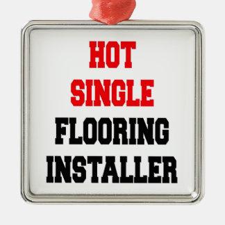 Hot Single Flooring Installer Metal Ornament