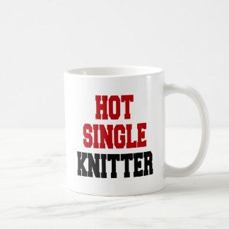 Hot Single Knitter Classic White Coffee Mug