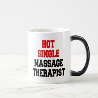 Hot Single Massage Therapist 11 Oz Magic Heat Color-Changing Coffee Mug