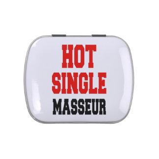 Hot Single Masseur Candy Tins