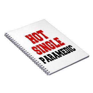 Hot Single Paramedic Spiral Notebook