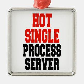Hot Single Process Server Metal Ornament
